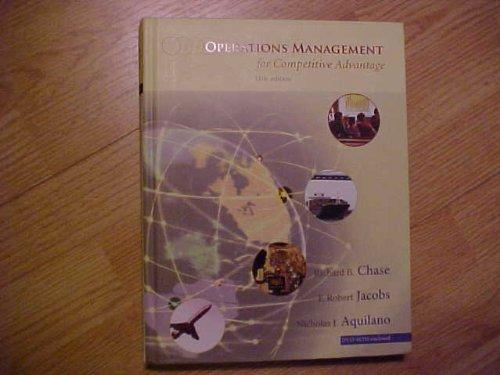 Operations Management for Competitive Advantage (McGraw-Hill/Irwin Series Operations and Decision Sciences)