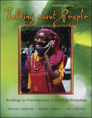 Talking About People Readings in Contemporary Cultural Anthropology