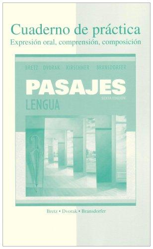 Workbook/Laboratory manual t/a Pasajes