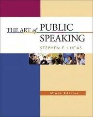 The Art of Public Speaking, 9th Edition