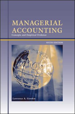Managerial Accounting Concepts And Empirical Evidence