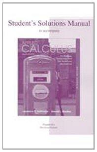 Student's Solutions Manual to accompany Applied Calculus for Business, Economics, and the Social and Life Sciences, Expanded Edition