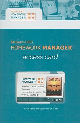 Homework Manager Card to accompany Intermediate Accounting