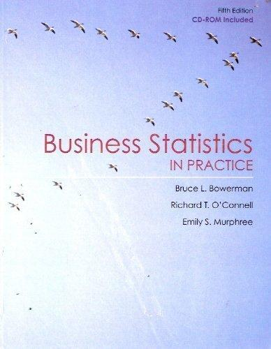 Business Statstics in Practice