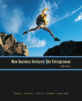 New Business Ventures and the Entrepreneur
