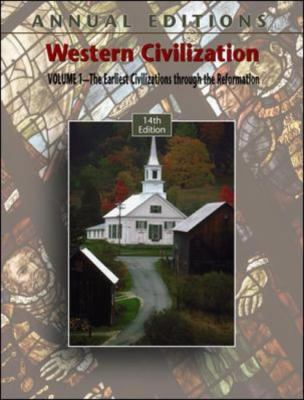 Western Civilization SThe Earliest Civilizations Through the Reformation