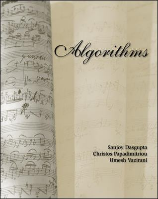 Where can I find Algorithms by Dasguta's solution manual ...