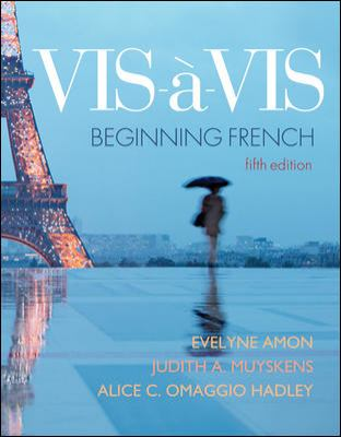 Audio CD program to accompany Vis--vis: Beginning French