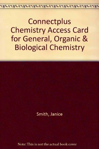 ConnectPlus Chemistry Access Card for General, Organic & Biological Chemistry