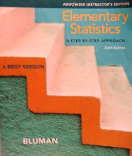 Elementary Statistics: A Brief Version