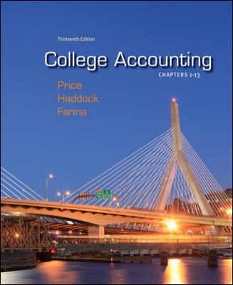 College Accounting, Chapters 1-13: With Connect Plus