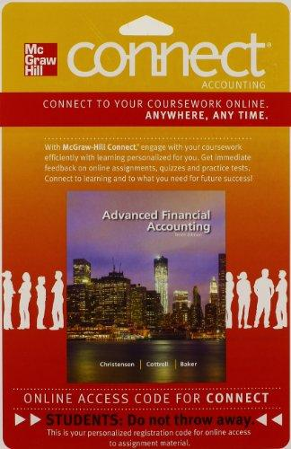 CONNECT ACCOUNTING 2S ACCESS CARD FOR ADVANCED FINANCIAL ACCOUNTING
