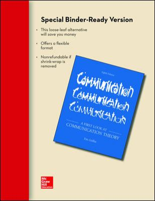 Looseleaf for A First Look at Communication Theory