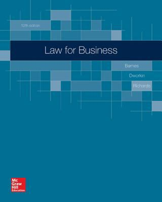Loose-Leaf for Barnes, Law for Business 12e