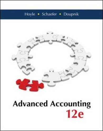 Advanced Accounting - Standalone book (Irwin Accounting)
