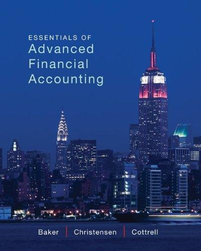 Loose Leaf Essentials of Advanced Financial Accounting with Connect Plus