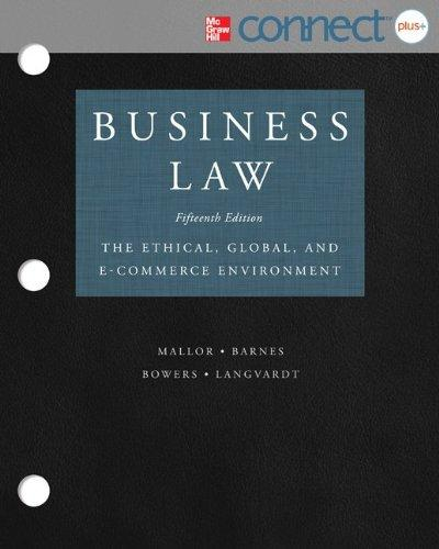 Loose-Leaf Business Law with ConnectPlus 2 Semester