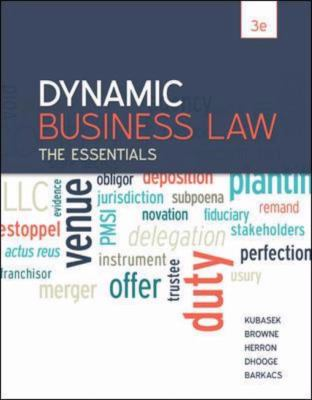 Dynamic Business Law : The Essentials