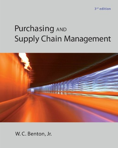 Purchasing and Supply Chain Management (The Mcgraw-hill/Irwin Series in Operations and Decision)
