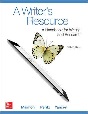Writer's Resource (Comb-Version) Student Edition