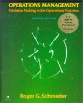 Operations Management Decision Making in the Operations Function/Book and Disk