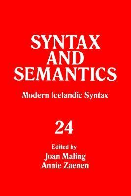 Modern Icelandic Syntax and Semantics