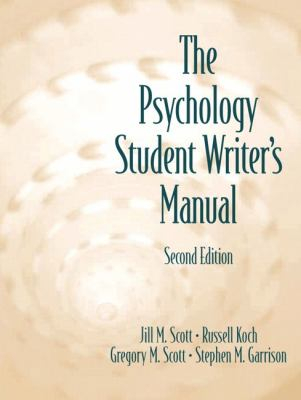 Psychology Student Writer's Manual