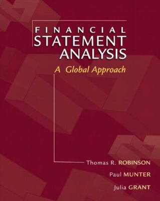 Financial Statement Analysis A Global Perspective