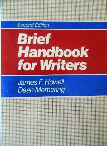 Brief Handbook for Writers