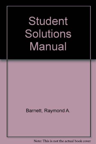 Applied Calculus for Business, Economics, Life Sciences and Social         Sciences: Student Solutions Manual