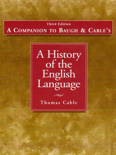 Companion to History of the English Language