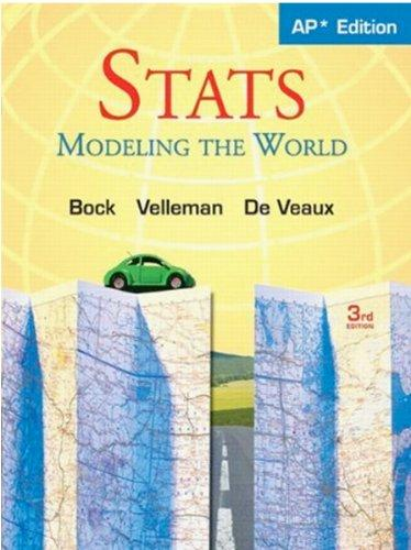 Stats: Modeling the World Nasta Edition Grades 9-12