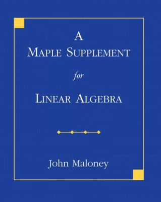 Maple Manual For Linear Algebra