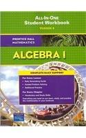 PRENTICE HALL MATH ALGEBRA 1 STUDENT WORKBOOK (ADAPTED VERSION) 2007