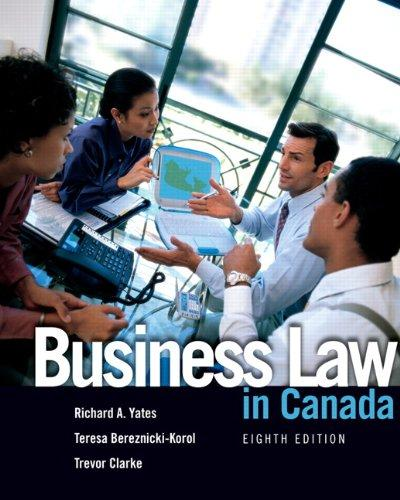 Business Law in Canada (8th Edition)