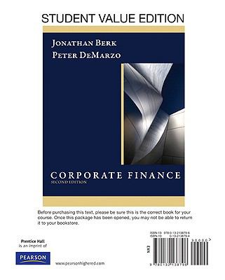 Student Value Edition for Corporate Finance (2nd Edition)