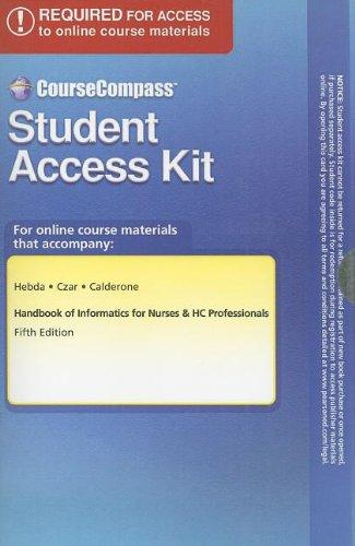 Course Compass Student Access Code Card for Handbook of Informatics for Nurses & HC Professionals