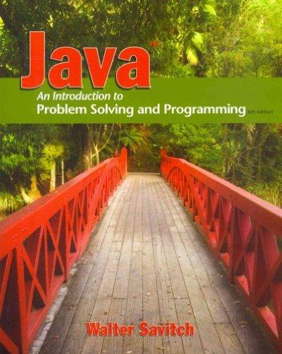 Java: Introduction to Problem Solving and Programming  & MyProgrammingLab with Pearson eText Student Access Code Card for Java (6th Edition)