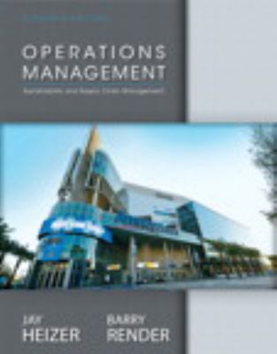 Operations management 11th edition 11th edition rent by jay heizer barry render operations management fandeluxe