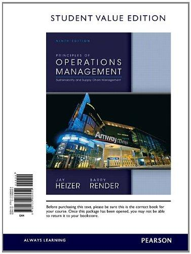 Principles of Operations Management, Student Value Edition (9th Edition)
