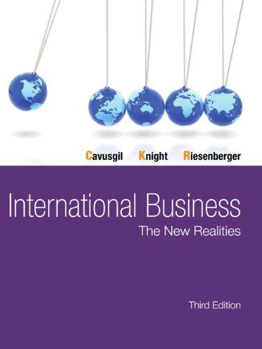 International Business: The New Realities (3rd Edition)