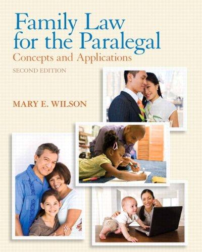 Family Law for the Paralegal: Concepts and Applications Plus NEW MyLegalStudiesLab and Virtual Law Office Experience with Pearson eText -- Access Card Package (2nd Edition)