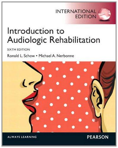 Introduction to Audiologic Rehabilitation Pie No Us Sale