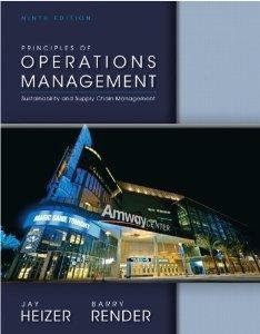 Principles of Operations Management and Student CD