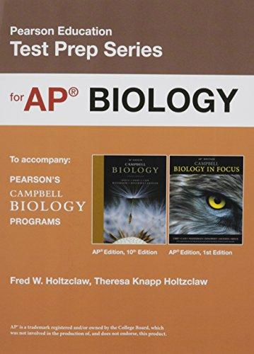 Preparing for the Biology AP* Exam (School Edition)