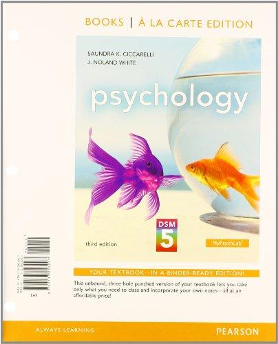 Psychology with DSM5 Update, Books a la Carte Edition Plus MyPsychLab with Pearson eText (3rd Edition)