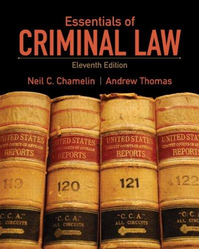 Essentials of Criminal Law (11th Edition)