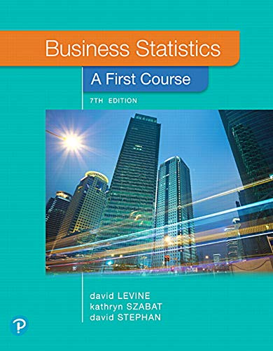 Business Statistics: A First Course (8th Edition)