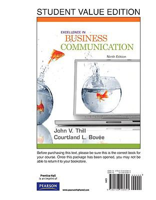 Excellence in Business Communication, Student Value Edition (9th Edition)