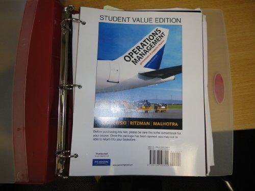 Operations Management, Student Value Edition (9th Edition)